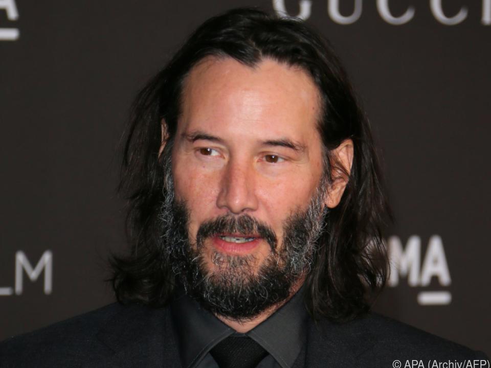 Auch Keanu Reeves war beim Party-Dreh teilweise dabei