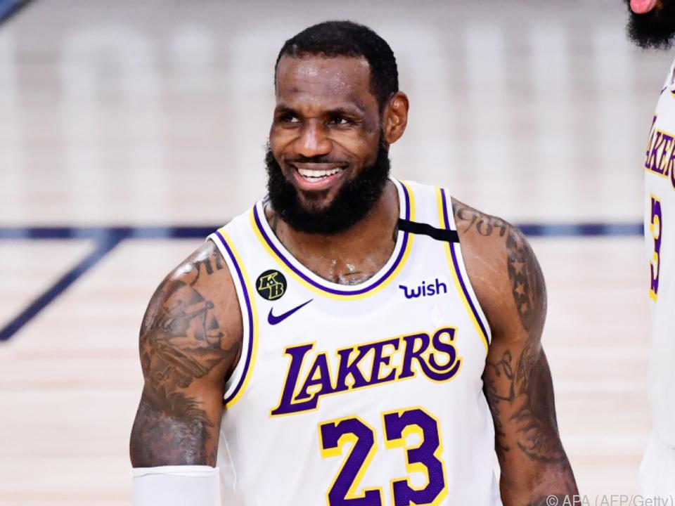 Basketball-Superstar LeBron James ist erleichtert