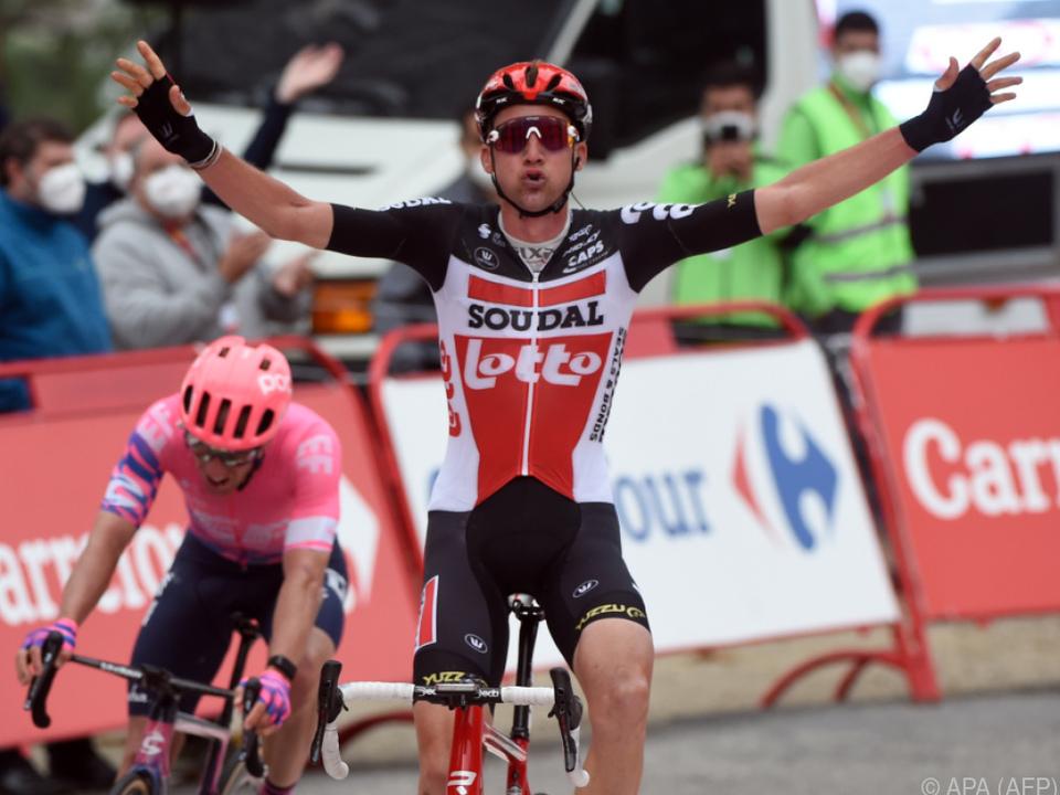 Bereits der zweite Tagessieg für Tim Wellens bei der Vuelta