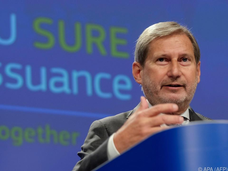 Budgetkommissar Hahn ist mit der Einigung hochzufrieden