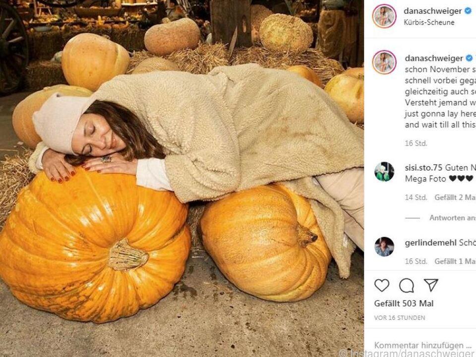 Dana Schweiger nutzt ihre Zeit in Hamburg für Instagram