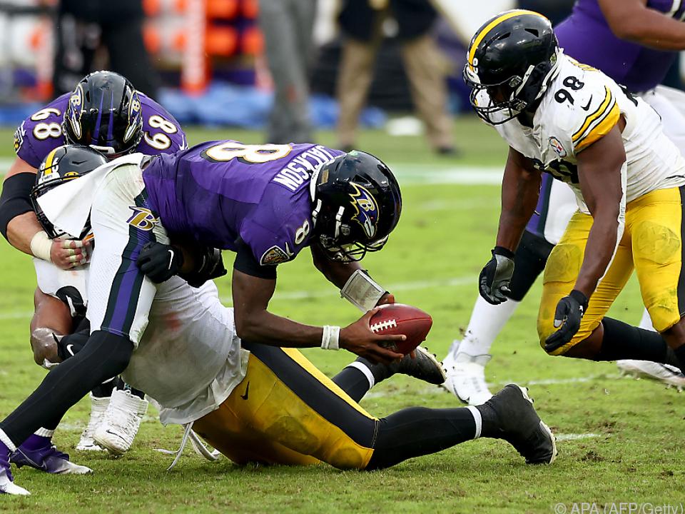 Das Duell gegen den Erzrivalen Baltimore ging diesmal an die Steelers