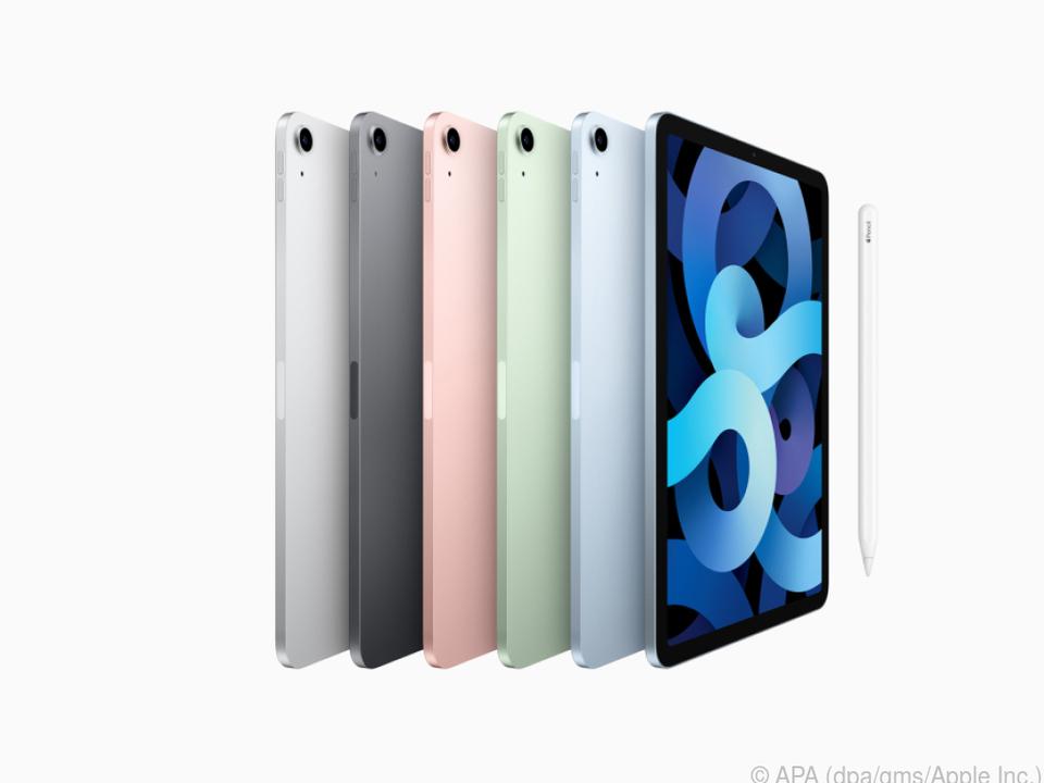 Rot, Grün, Blau - diese drei Farben sind neu beim iPad Air 4
