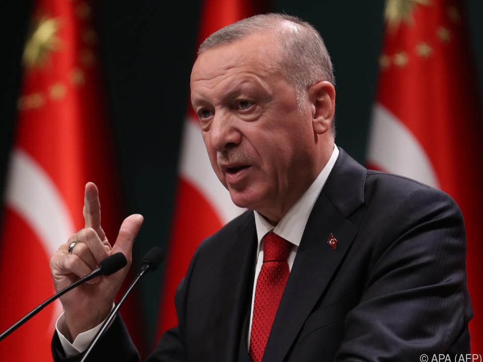 Der türkische Präsident wettert gegen \