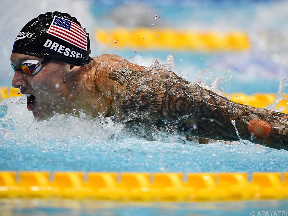 Der US-Amerikaner erschwamm einen Weltrekord