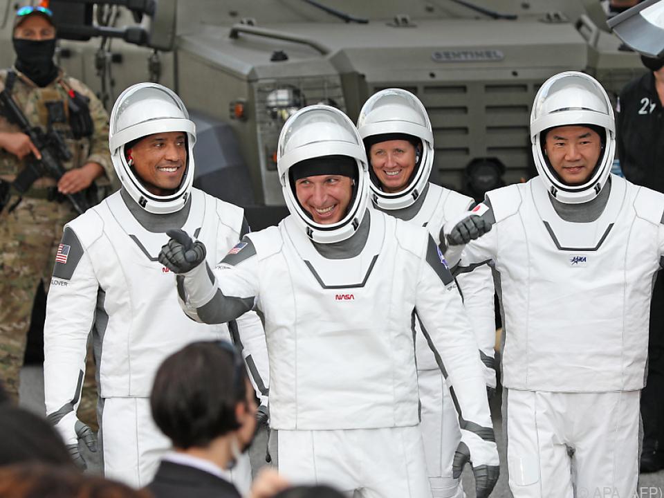 Die Astronauten vor dem Start
