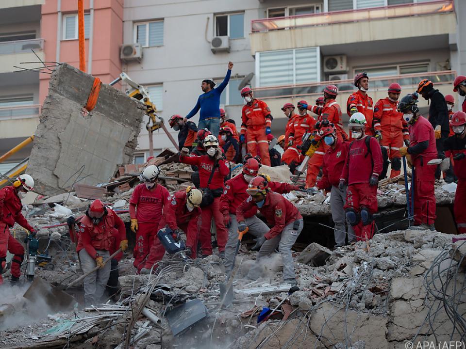 Die Stadt Izmir ist besonders stark vom Erdbeben betroffen