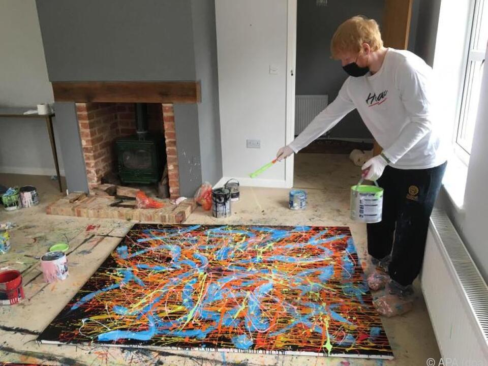 Ed Sheeran auf den Spuren von Jackson Pollock