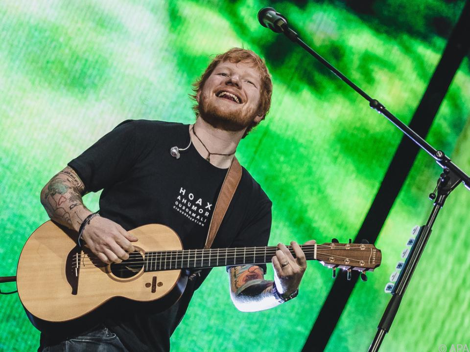 Ed Sheeran singt nicht nur, er malt auch