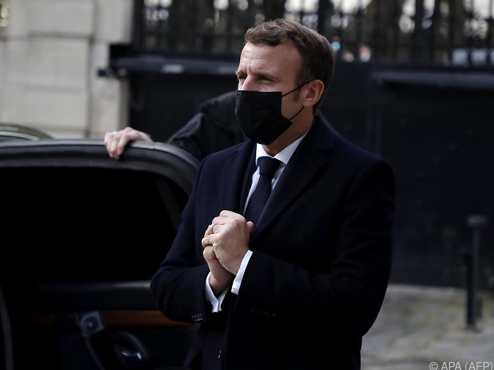 Ein trauriger Anlass führt Macron nach Wien