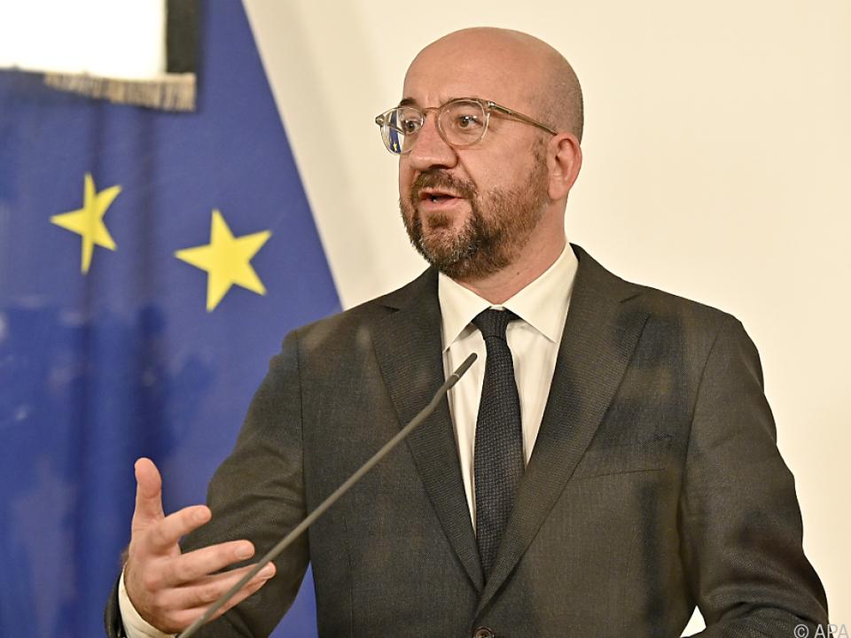 EU-Ratspräsident Charles Michel zu Gast in Wien