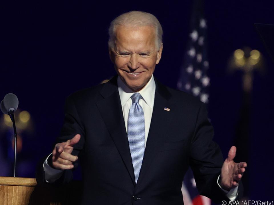 Freude bei Biden nach Wahlgewinn