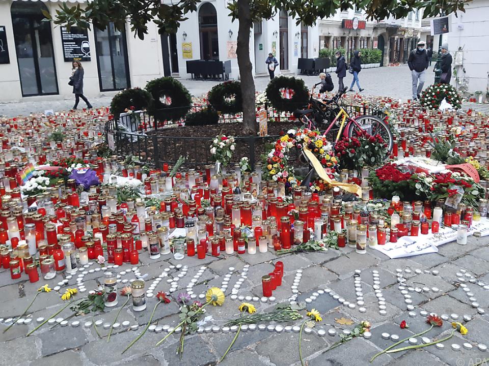 Gedenken an die Opfer des Anschlags von Wien