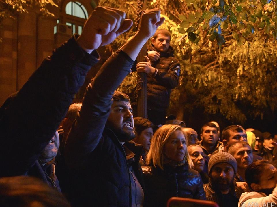 In Armeniens Hauptstadt Jerewan kam es zu Ausschreitungen