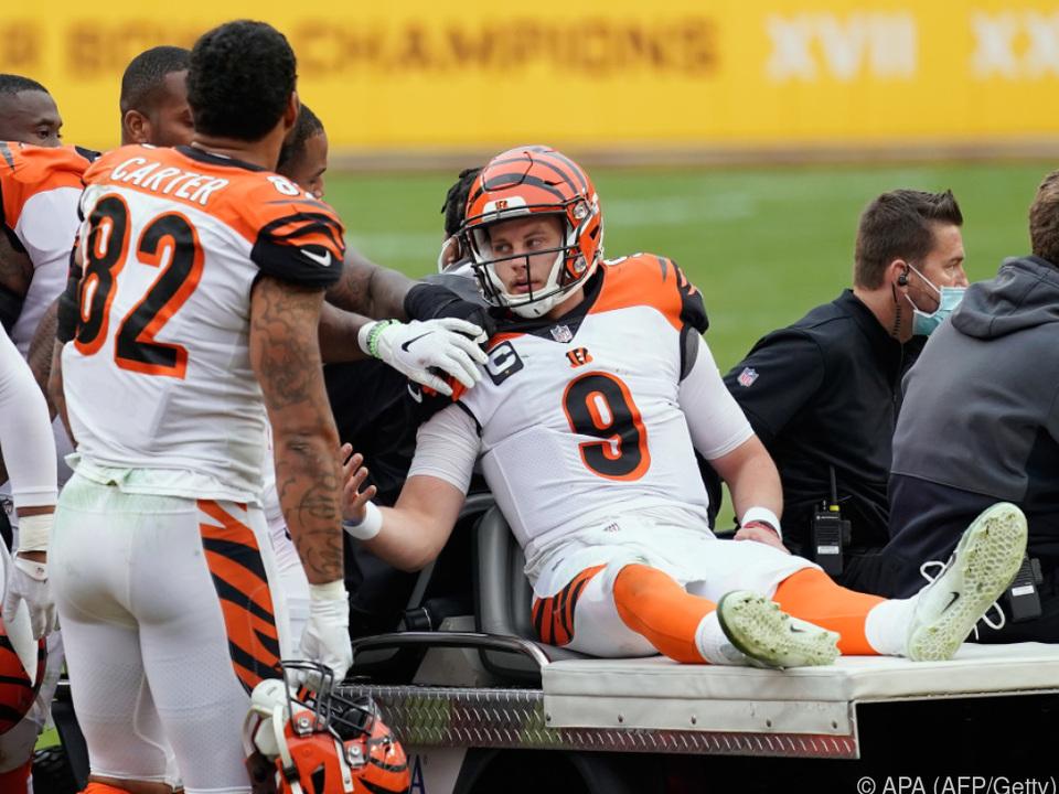 Joe Burrow verletzte sich schwer am Knie