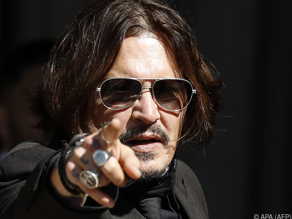 Johnny Depp hat schon einmal mehr Spaß gehabt