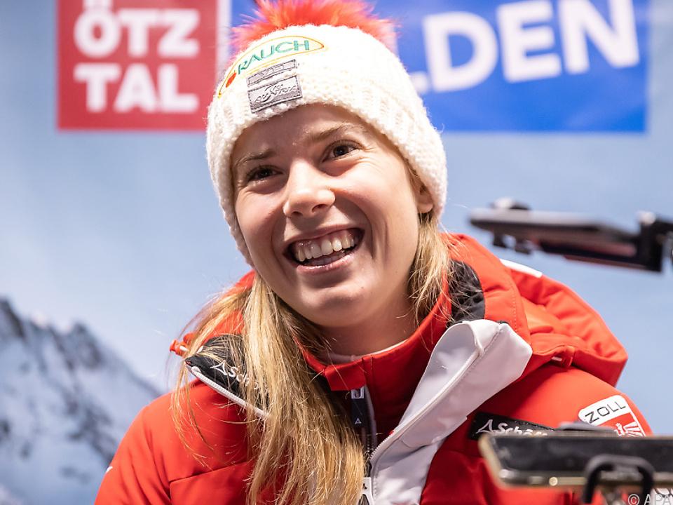 Katharina Liensberger war im Training die Schnellste