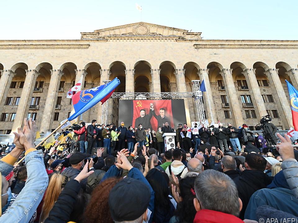 Kundgebung im Zentrum von Tiflis