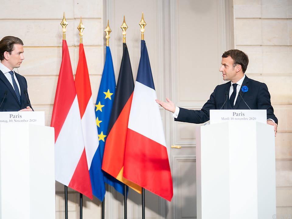Kurz bei Macron in Paris