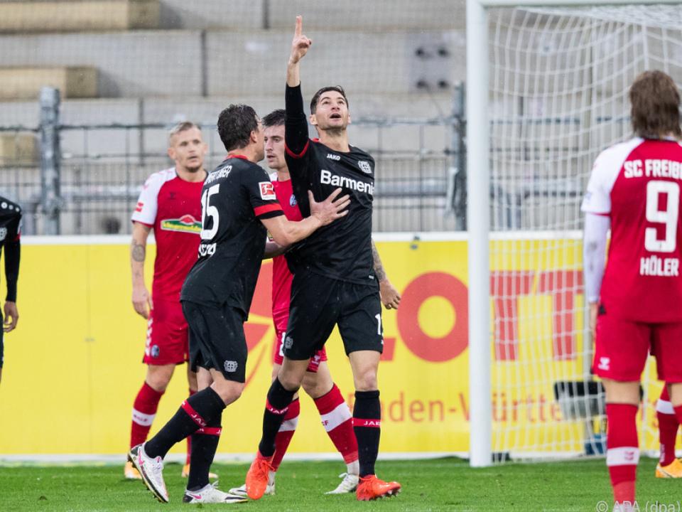 Leverkusen gelang in der Tabelle ein Sprung nach oben
