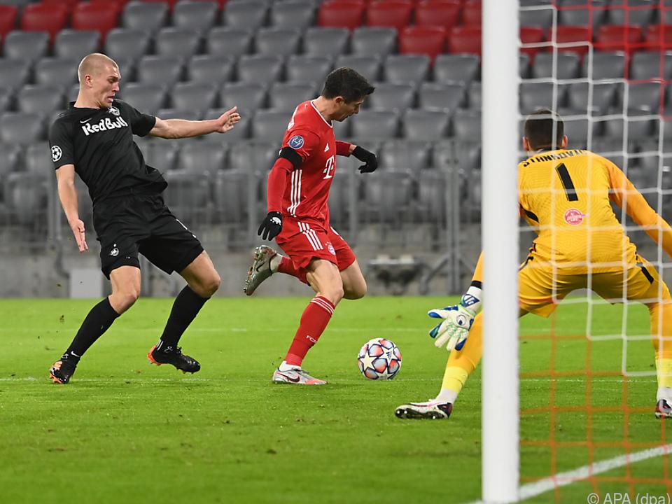 Lewandowski traf vor der Pause zum 1:0