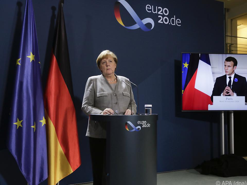 Merkel ist in Sachen USA anderer Meinung als Macron