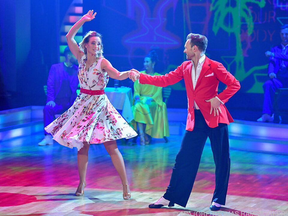 Michi Kirchgasser und Vadim Garbuzov tanzten zum Sieg