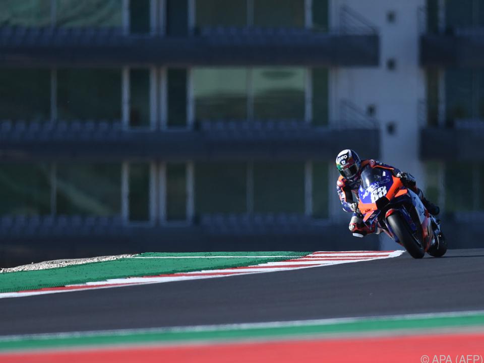 Miguel Oliveira mit seiner KTM allein auf weiter Flur