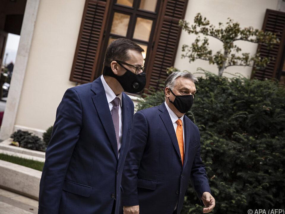 Morawiecki und Orban zeigen sich unnachgiebig