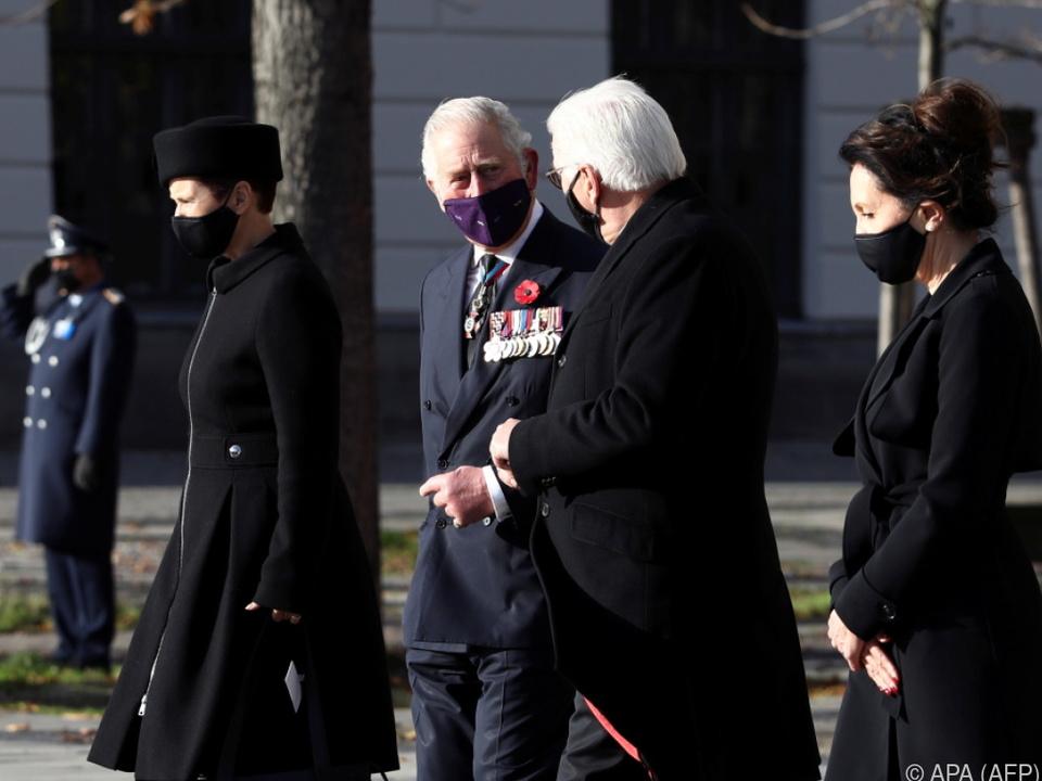 Prinz Charles mit dem deutschen Bundespräsidenten