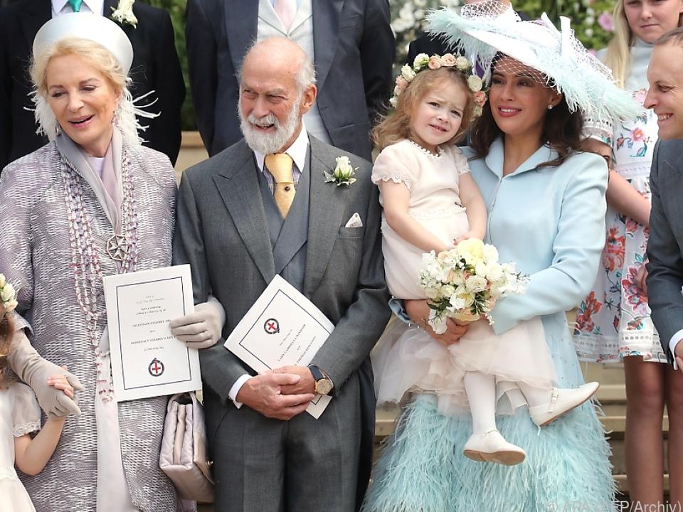 Prinzessin Michael von Kent (l.) mit ihrer Familie