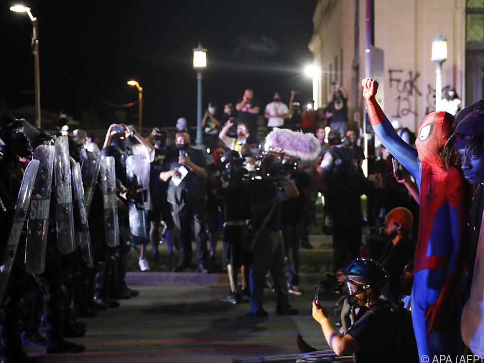 Proteste nach Schüssen auf Jacob Blake im August