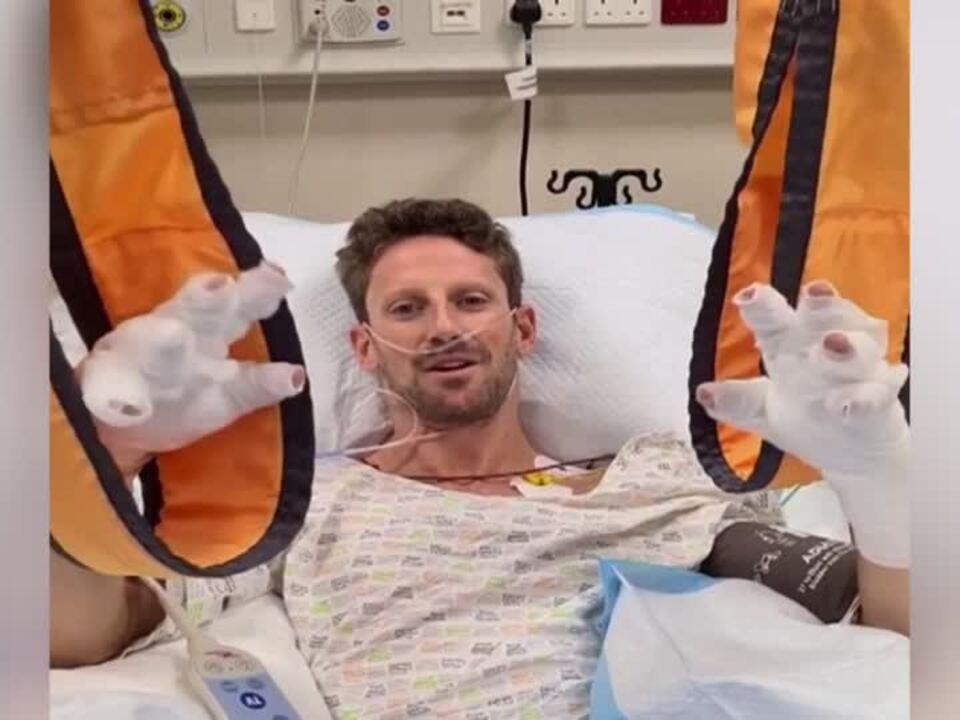 Romain Grosjean überlebt schweren Unfall