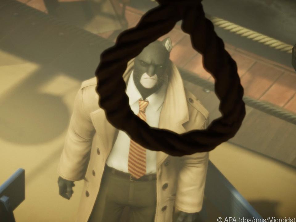 Detektiv John Blacksad schließt Bekanntschaft mit einem Strick