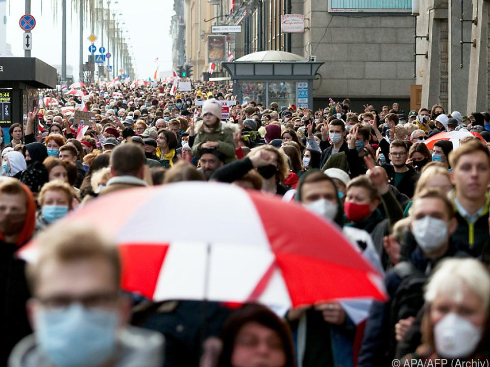 Seit Monaten wird in der weißrussischen Hauptstadt Minsk demonstriert
