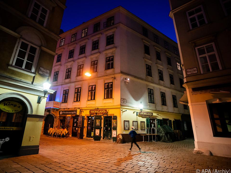Sperrstund is\': Ausgehviertel in Wien während erstem Lockdown