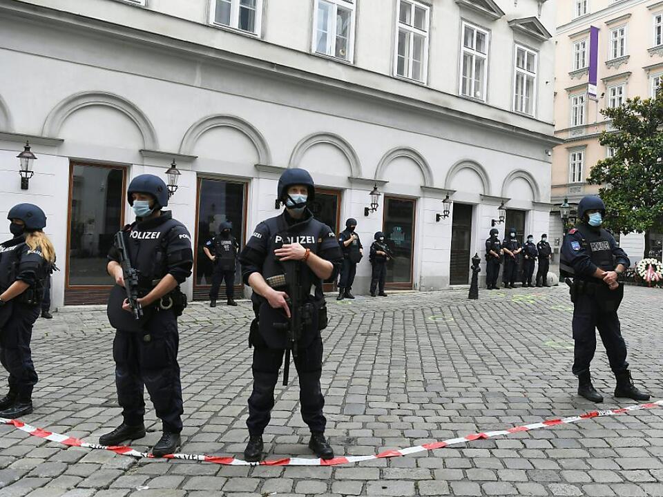 Starke Polizeipräsenz in der Wiener Innenstadt