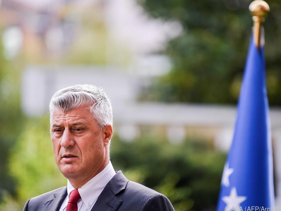 Kosovos Ex-Präsident Thaci in U-Haftanstalt in Den Haag