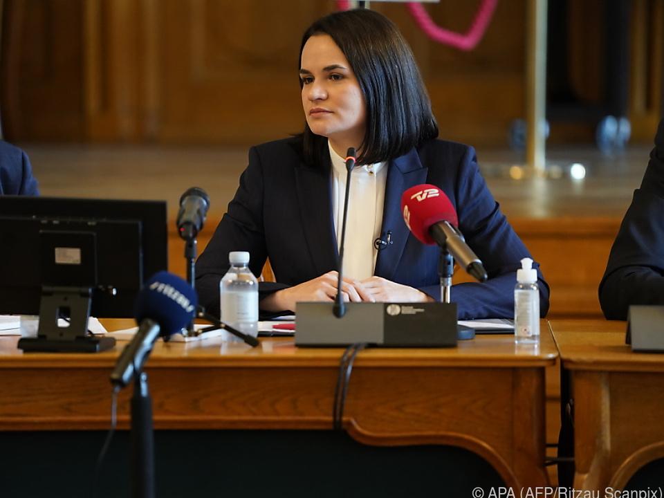 Tichanowskaja zählt zu den größten Kritikern von Präsident Lukaschenko