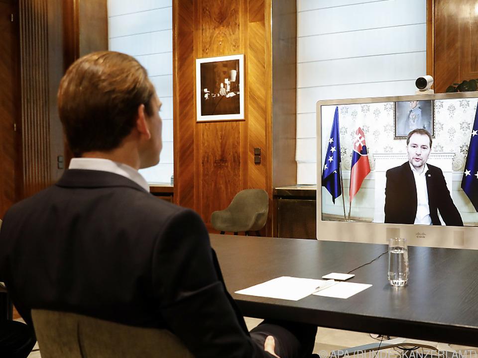 Videokonferenz mit dem slowakischen Ministerpräsidenten Matovic
