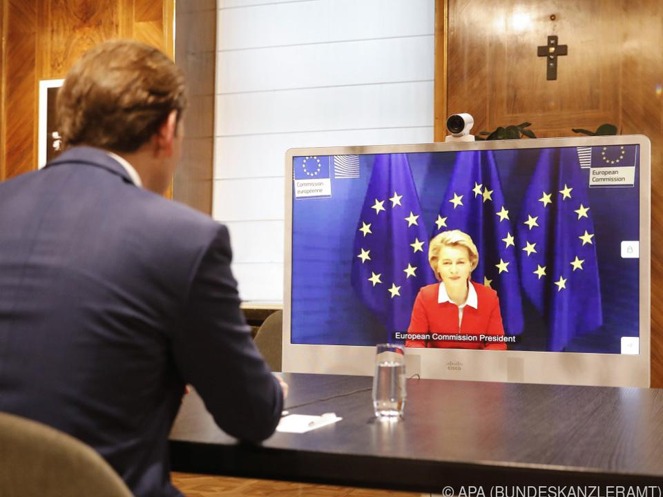 Videokonferenz von Kurz mit von der Leyen