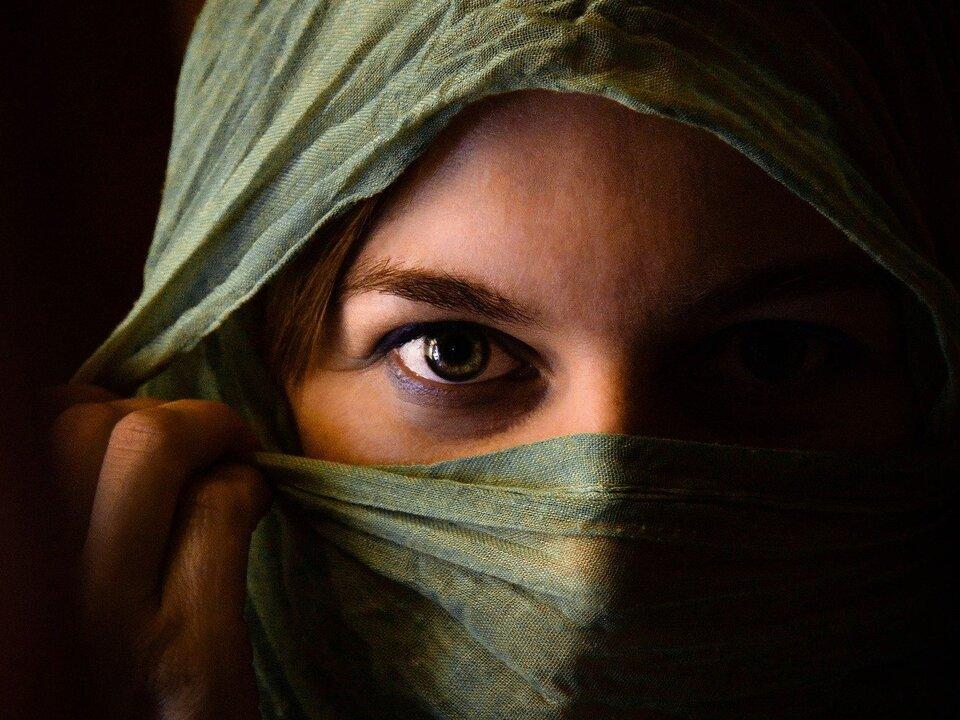 Frau Schleier Islam Muslimisch Moslem