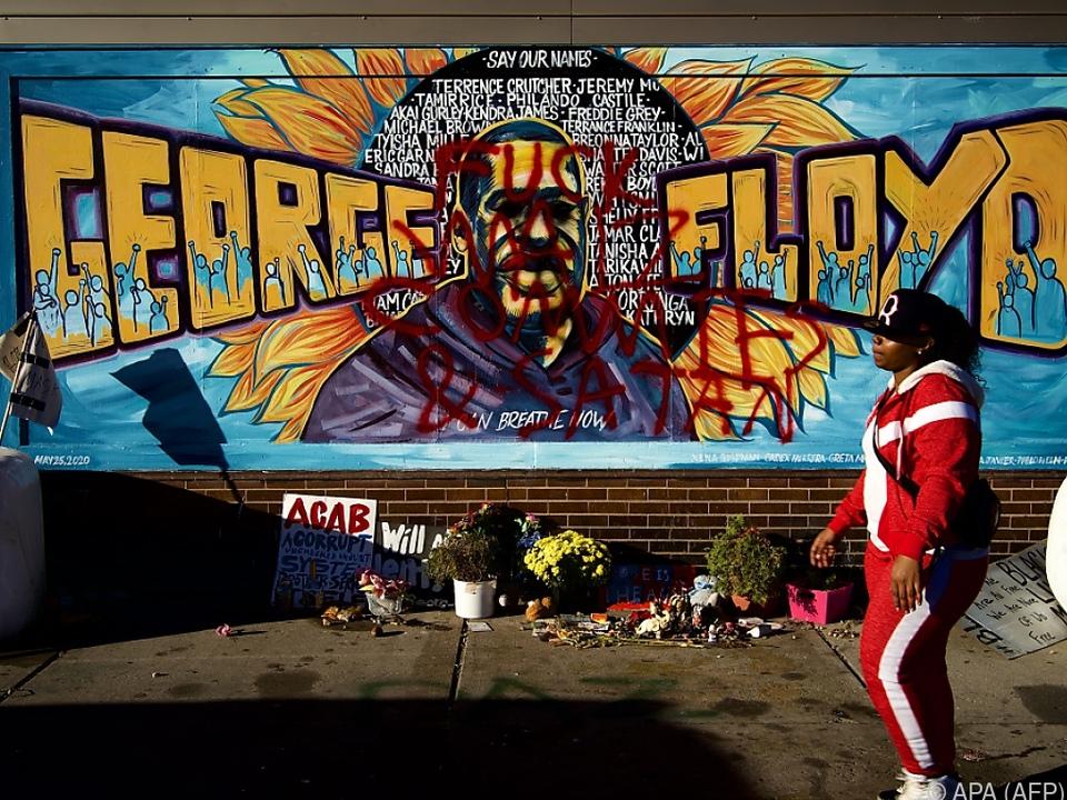 Zahlreiche Graffiti mit George Floyd entstanden nach seinem Tod
