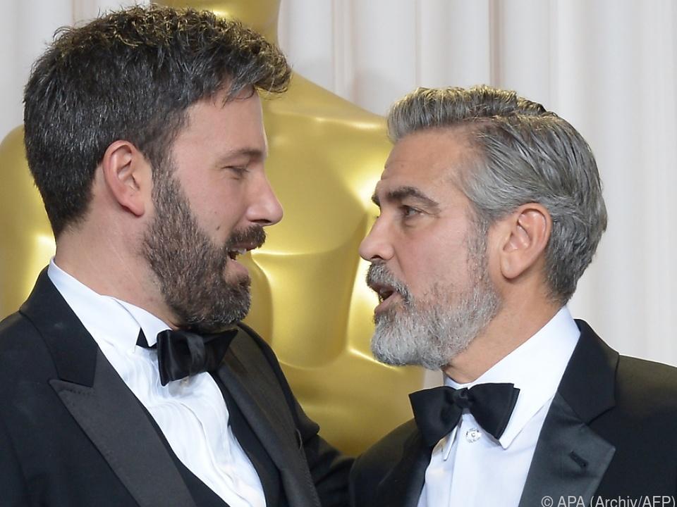 Affleck und Clooney feierten 2013 gemeinsamen Oscar-Gewinn