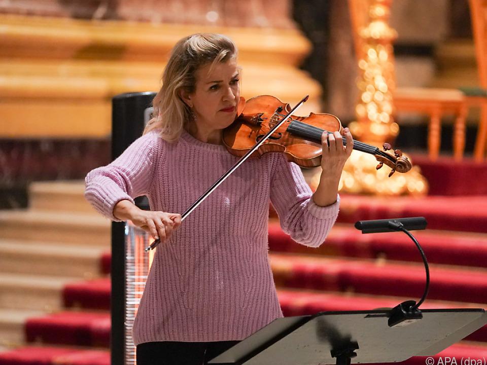 Anne-Sophie Mutter spielte bei Vesper im Berliner Dom