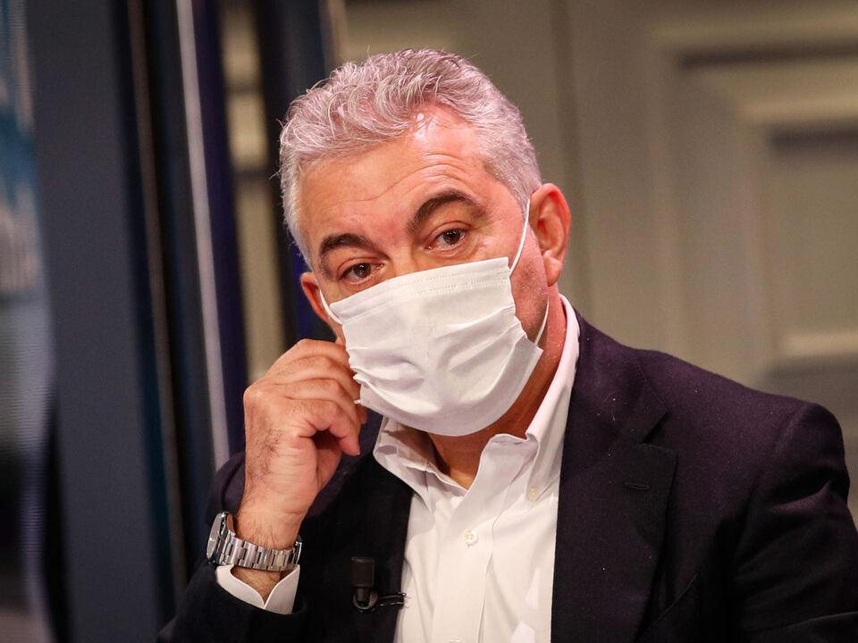 Il commissario all\'emergenza Covid  Domenico Arcuri ospite della trasmissione di RAI1 \'Porta a porta\' condotta da Bruno Vespa, Roma, 17 Novembre 2020. ,athesiadruck2_20201206211428193_e547f38704cb0131e9397d4f331576a8
