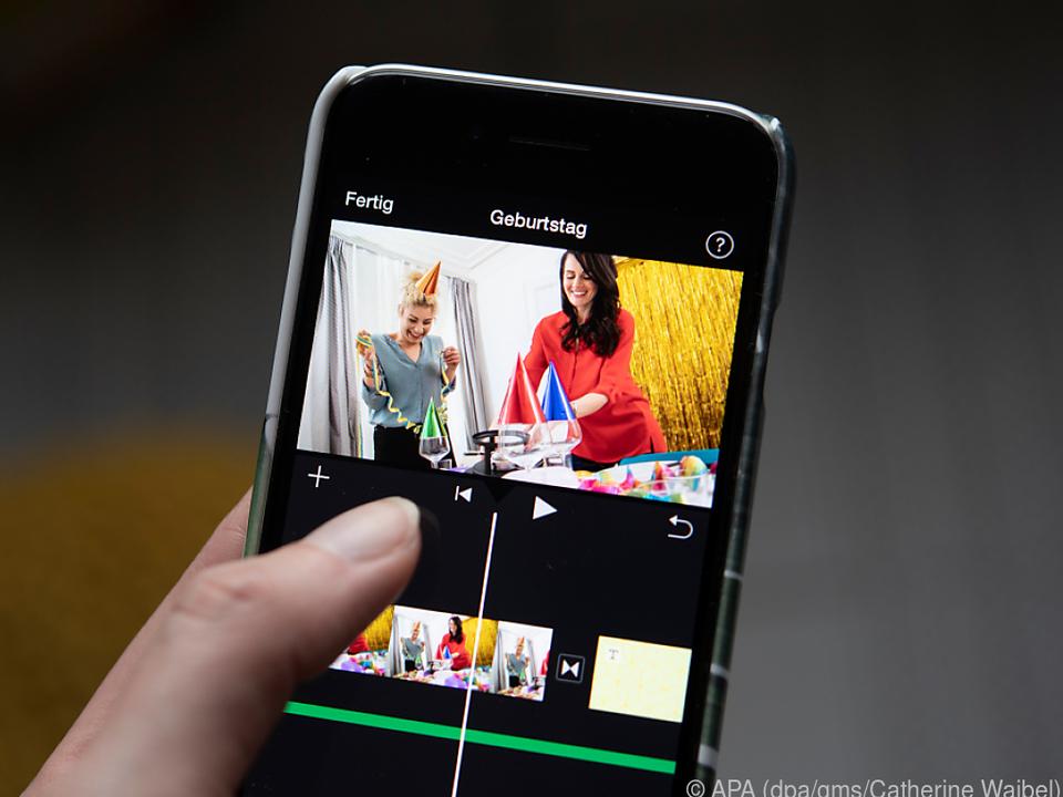 Auch auf dem Smartphone kann der Geburtstagsfilm gelingen