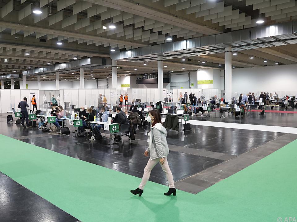 Auch in der Messehalle in Graz werden Massentests durchgeführt