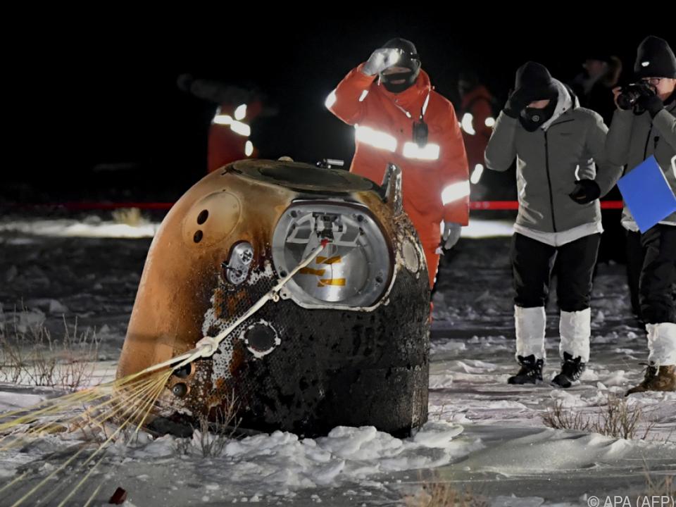 Bergungstrupps fanden Kapsel in der Inneren Mongolei