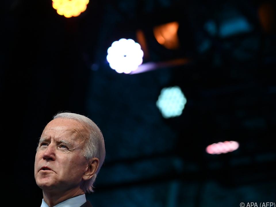 Biden sprach von schwierigen Wochen und Monaten